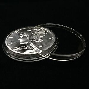 5 Airtite Holders Coin Capsules for 1 oz Silver Rounds, Direct Fit 39mm