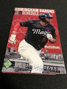 2021 Birmingham Barons Baseball Pocket Schedule StVince Vers White Sox Affiliate