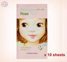 Etude House Greentea Nose Pack (10 sheets) green tea pack