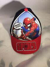 Toddler Marvel Super Hero Spiderman Ball Cap Hat Elastic Back XS/S 6-24 Mths