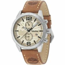 Timberland Sagamore 15256JS/07 Men's Watch With Brown Leather Strap