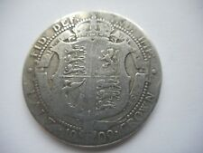 1909 Edward VII Half Crown Coin in good circulated  condition.