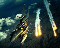 New 8x10 Photo: F-15E Strike Eagle Fighter Jet over Afganistan