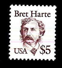 USA - STATI UNITI - 1987 - Grandi personaggi americani - 5 $ - Bret Harte