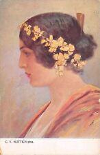 CV Muttich~Black Haired Beauty~Lovely Lady Profile~Chignon Ornaments~VKKV 289-2