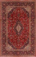 Vintage Medallion Hand-Knotted Floral Ardakan Area Rug Wool Oriental Carpet 7x10