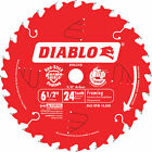 Diablo Framing Saw Blade-6 1/2in x 24T For Wood & Wood Composites #D0624X