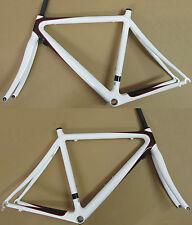 Intec C1 Carbon 12-K Road Bike Frames 1020gr Fork 410gr. NEW Carbon/White 55cm