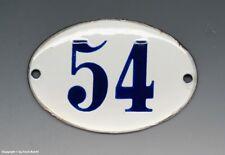 KLEINE...! ALTE EMAIL EMAILLE NUMMER 54 aus HOTEL ? um 1950...9 x 6 cm !!