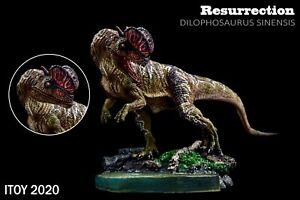 ITOY 2020 Dilophosaurus Statue Coelophysoidea Dinosaur Collector Animal Toy Gift