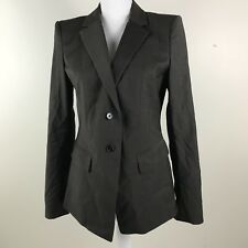 Womens Ann Taylor Gray Suit Jacket Blazer Sz 6