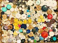 BUTTONS! HUGE Lot TWELVE POUNDS Vintage Sewing Buttons 12lb Estate Mix 12PD14
