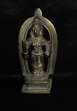 Antique Traditional Indian Ritual Bronze Goddess Durga Standing Rare #3