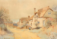 H. English - Early 20th Century Watercolour, Village Street Scene
