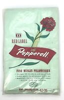 Vintage Red Label Lady Pepperell Cotton Green Solid Pillowcases Fine Muslin NOS