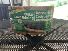 Greens cedar lawn edging 6 inches high 10 foot long brand new