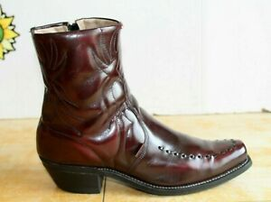 Vintage Long Haul Men's Western Ankle Zipp Leather Boots, Size 11D Made in USA