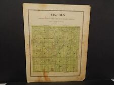 Iowa Madison County Map Lincoln Township  1912  Y12#10