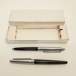 Vintage Paper Mate Pen Set Double Heart Profile & Flair Advertising Pens in Box