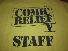 COMIC RELIEF STAFF TEE SHIRT VINTAGE 80S RARE XL COMIC RELIEF V CLEAN