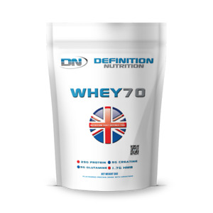 Whey Protein Powder 3kg 6.6lbs Bag Definition Nutrition 85 Servings RRP £49.99