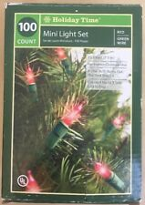 Holiday Time 100 Red Mini Lights Special Occasion 23.5 ft NEW Free Shipping!