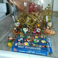 Lot Vintage Looney Tunes Taz Tazmanian Devil Christmas Ornaments Warner Brothers