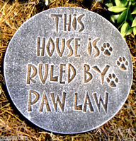 Dog plaque paw law mold plaster concrete mould