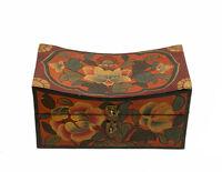 Cofanetto Scatola Tibetano Lotus Budda Artigianato Nepal 20x10cm 9150 Y2