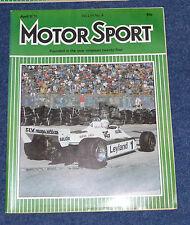 Motor Sport April 1981 US GP, Audi 200 5E, BMW 628Csi, BMW M1, Talbot