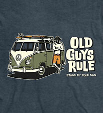 "OLD GUYS RULE "" STAND BY VAN "" SURF SURFBOARD WOODY LONGBOARD BEACH FIN SIZE M"