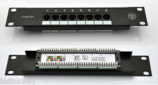 SOHO Network Mini 8ports Cat.5e patch panel for 10 inch Rack Mount