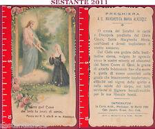1534 SANTINO HOLY CARD S. MARGHERITA MARIA ALACOQUE MEDIOLANI SACRO CUORE GESù