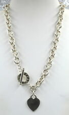 TIFFANY & CO STERLING SILVER CHAIN LINK HEART PENDANT NECKLACE NO RESERVE