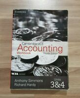 VCE Accounting Units 3 and 4 Workbook 4th Edition by Anthony Simmons Cambridge