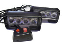 12V High Power Heavy Duty Amber Yellow orange Flashing Strobe Beacons LED Lights