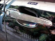 3D GLOSS REAL TWILL CARBON FIBER DOOR HANDLE TRIM FOR BMW 3-SERIES E46 SEDAN M3