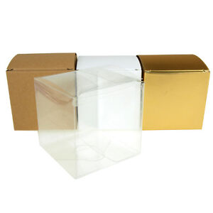 Cube Paper Gift Box Favor Boxes, 24-Piece