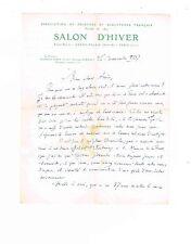 LE SCULPTEUR RAYMOND SUDRE PRESIDENT DU SALON D'HIVER