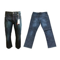 Mens Jeans Waist Size 30 - 42 By Jean Team Relaxed Loose Fit Dark Denim Trousers