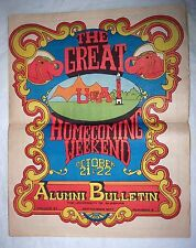 1977 University of Alabama Crimson Tide Alumni Bulletin Homecoming Weekend