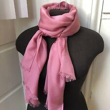 NWT Lightweight Elegance Paris Pink 100% Silk Rectangular Scarf Wrap
