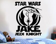 Star Wars Personalized Jedi DIY Wall Art Sticker/Decal/Mural bedroom playroom