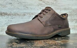 Mens Ecco Gore-tex Oxford Shoes Sz 13 47 Used Brown Leather Casual Goretex