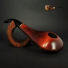 Hand Made Unique Wooden Tobacco Smoking Pipe Saturn Artisan Job