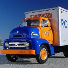 LAST RARE 1953 ROADWAY EXPRESS Ford C600 Freight Truck - First Gear