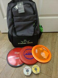 NEW - Dynamic Discs Trooper Disc Golf Backpack 3 Frisbees & 2 4-Packs Washers