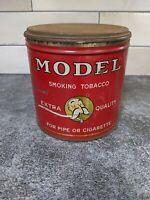 ANTIQUE Vintage ADVERTISING TIN MODEL SMOKING TOBACCO