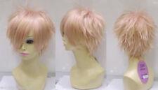 USJF973  fine short fashion light pink hair wigs for women wig