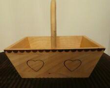 ⭐️ Swedish Wooden Handle Basket Heart Design (Gift Present Display Presentation)